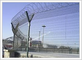 Airport Safety Mesh Fence Berming Security Fencing Co