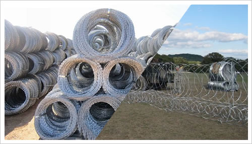 Razor Wire Mobile Security Barrier – Concertina Coil Barricade